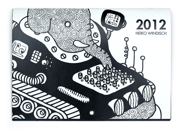 Got this nice calendar by illustrator and artist Heiko Windisch as a birthdaypresent by my friend and colleague Le Reptile. Heiko Windisch (originally from Germany) lives and works with his wife and illustrator Lilly Piri on the Gold Coast, Queensland, Australia. His work on paper and canvas has appeared in shows in Los Angeles, New York, Sydney and Zrich.