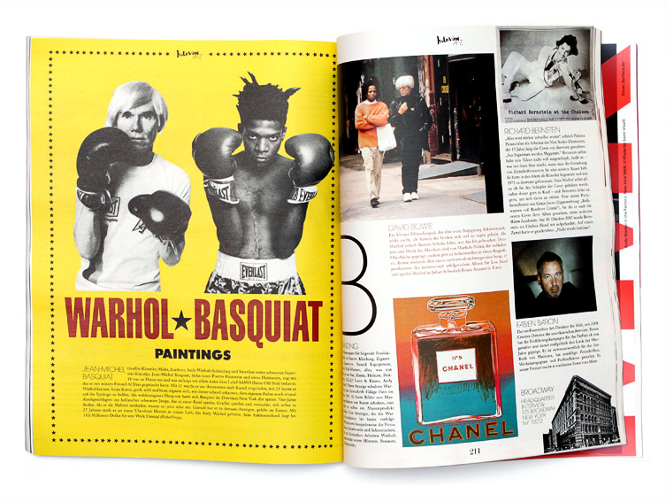 Interview Magazine Andy Warhol, Basquiat